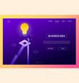 business idea - modern isometric website vector image