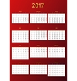 calendar 2017 year template vector image
