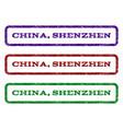 china shenzhen watermark stamp vector image vector image