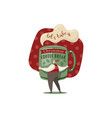 christmas coffee break vector image