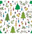 Christmas decoration seamless pattern Background vector image vector image