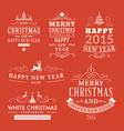 Christmas decoration set of design elements labels vector image