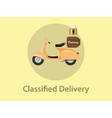 classified delivery with motor bike vector image vector image
