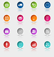 Colored set round web buttons template vector image vector image