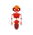colorful robot technology with machine body design vector image