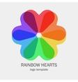 Conceptual single logo with a heart shapes vector image vector image