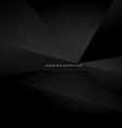 dark black 3d background vector image vector image