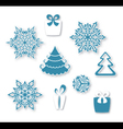 Decorative Christmas set vector image