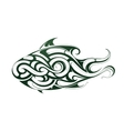 Decorative fish tattoo vector image vector image