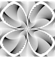 Design monochrome decorative twirl background vector image vector image