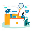 education video tutorial webinar training cours vector image
