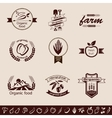 farm organic food emblems and labels set vector image