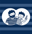 father and son humorous family vector image
