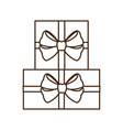 gifts boxs isolated icon vector image vector image
