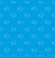 graduation cap pattern seamless blue vector image vector image