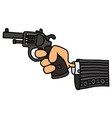 Gun in a hand vector image vector image