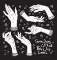 hand drawn set female witches hands in vector image vector image