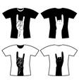 hands tee shirt vector image
