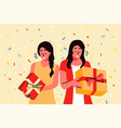 holiday celebration party gift concept vector image