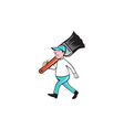 House Painter Paintbrush Walking Cartoon vector image vector image