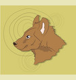 hyena portrait on a colored background vector image vector image