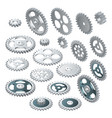 isometric big set of a gear wheels vector image vector image