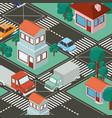 isometric city scene icons vector image vector image