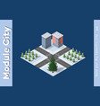 isometric winter christmas town vector image