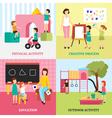 Kindergarten Concept Icons Set vector image