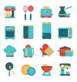 Kitchen appliances icons set vector image vector image