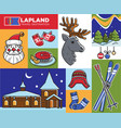lapland travel destination santa claus house and vector image