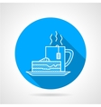 Line icon for tea party vector image