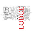 lodge word cloud concept vector image vector image
