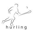 Logo hurling game irish hurling