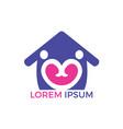 love house logo design vector image