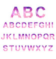 low poly alphabet lowpoly alphabet vector image