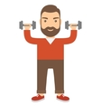 Man with dumbbells vector image vector image
