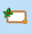 new year banner place for text in a frame of vector image vector image