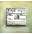 Newspaper old-style vector image