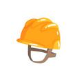 orange safety hard hat cartoon vector image