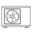 outdoor conditioner fan icon outline style vector image vector image