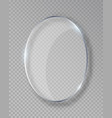 oval shiny glass frame isolated on fake vector image