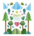 paper art landscape vector image