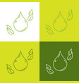 paraben free concept icons collection ecological vector image