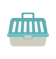 Pet carrying case isolated icon vector image