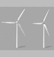 realistic white wind turbine vector image