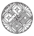 romanesque circular panel is found in basel vector image vector image