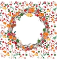 Round festive Christmas wreath with fruits vector image vector image