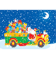 Santa with Christmas gifts vector image vector image