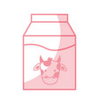 shadow milk box graphic design vector image vector image